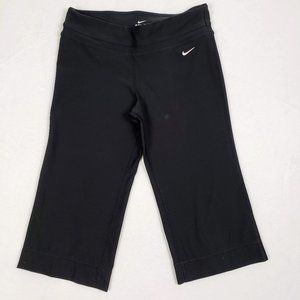 Nike Women's Black Dri-Fit Wide Leg Yoga Capri
